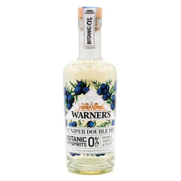Warner's Juniper Double Dry Botanic Garden Spirits (0%, 50cl)