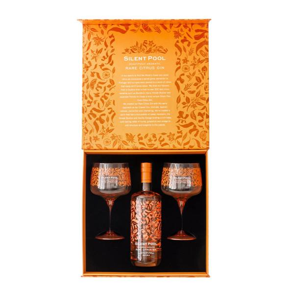 Silent Pool Rare Citrus Gin Gift Set With 2x Glasses