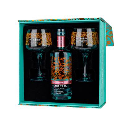 Silent Pool Rose Expression Gin Gift Set With 2x Glasses