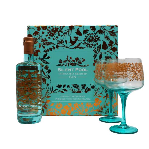Silent Pool Gin Gift Pack inc 2 x Copa Glasses