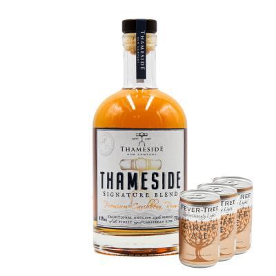 Thameside Signature Blend Rum + FREE Fever-tree Ginger Ale Fridge Pack