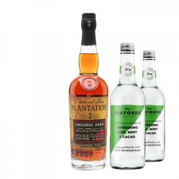 Plantation Original Dark Double Aged Rum + 2 FREE bottles of Sekforde Rum Mixer