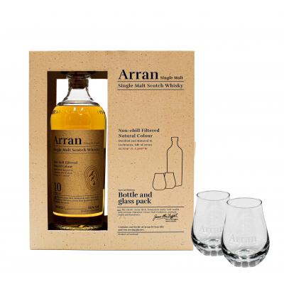 Arran 10 y/o Single Malt Whisky Gift Pack