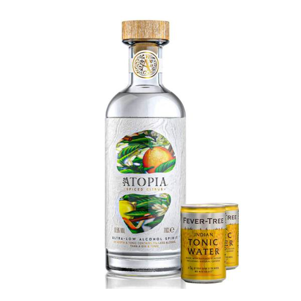 Atopia Spiced Citrus + FREE Premium Indian Tonic Fridge Pack (8 Cans)