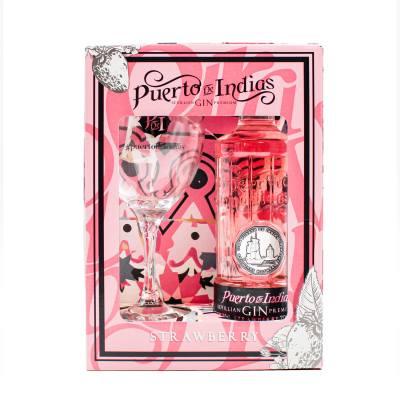 Puerto De Indias Strawberry Gin Gift Set